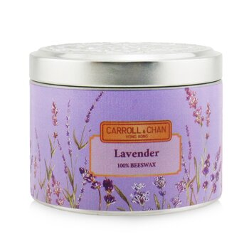 The Candle Company (Carroll & Chan) 100% Beeswax Tin Candle - Lavender
