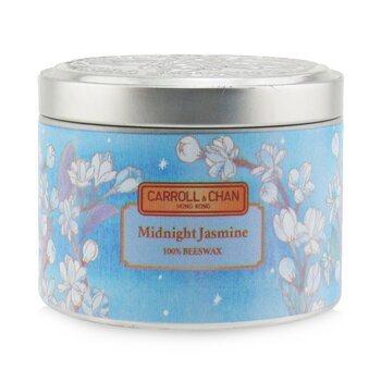 The Candle Company (Carroll & Chan) 100% Beeswax Tin Candle - Midnight Jasmine