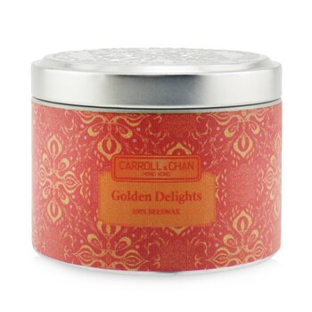 The Candle Company (Carroll & Chan) 100% Beeswax Tin Candle - Golden Delights