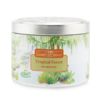 The Candle Company (Carroll & Chan) 100% Beeswax Tin Candle - Tropical Forest