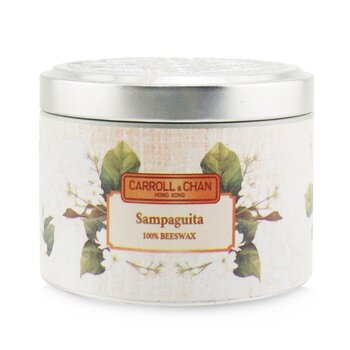 The Candle Company (Carroll & Chan) 100% Beeswax Tin Candle - Sampaguita