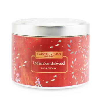 The Candle Company (Carroll & Chan) 100% Beeswax Tin Candle - Indian Sandalwood