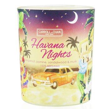 The Candle Company (Carroll & Chan) 100% Beeswax Votive Candle - Havana Nights