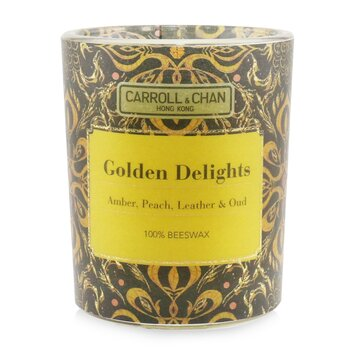 The Candle Company (Carroll & Chan) 100% Beeswax Votive Candle - Golden Delights