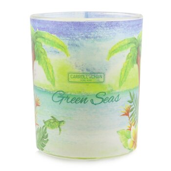 The Candle Company (Carroll & Chan) 100% Beeswax Votive Candle - Green Seas