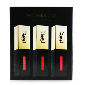 Yves Saint Laurent Rouge Pur Couture Vernis A Levres Glossy Stain Trio Set (#7, #9 , #12)