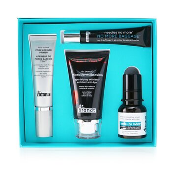 Dr. Brandt 25 Years Of Dr. Brandt Kit: Microdermabrasion 60g+ Wrinkle Smoothing Cream 15g+ Pore Refiner Primer 30ml+ No More Baggage 15g