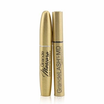 Grande Cosmetics (GrandeLash) Golden Girl Duo Set: GrandeLASH MD 2ml + GrandeMASCARA 5.6g + Bag