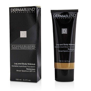 Dermablend Leg and Body Make Up Buildable Liquid Body Foundation Broad Spectrum SPF 25 - #Medium Golden 40W (Box Slightly Damaged)
