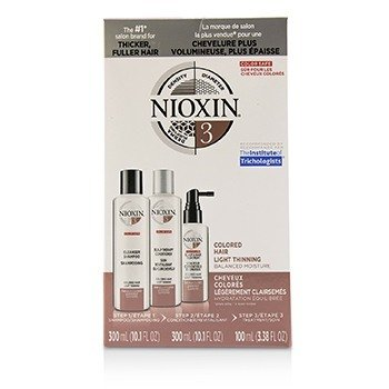 Nioxin 3D Care System Kit 3 - For Colored Hair, Light Thinning, Balanced Moisture