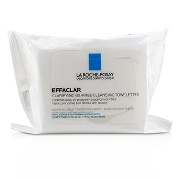 La Roche Posay Effaclar Clarifying Oil-Free Cleansing Towelettes